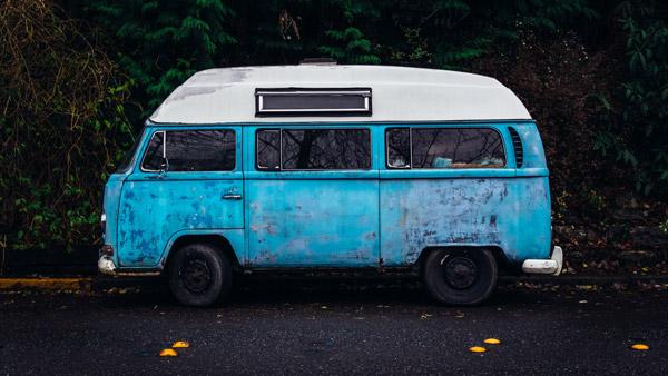 Caravana azul