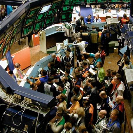 Negociación de acciones en la bolsa