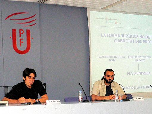 Presentación conjunta con Barcelona Activa sobre profesionales autónomos en el UPF Emprèn 2007