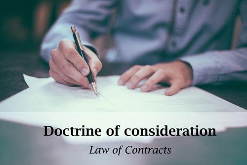 doctrine of consideration | Traducción jurídica y jurada de inglés a español