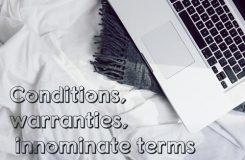conditions, warranties, innominate terms | Traducción jurídica y jurada de inglés a español